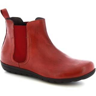 Polokozačky Leonardo Shoes  4526 STROPICCIATO BORDEAUX