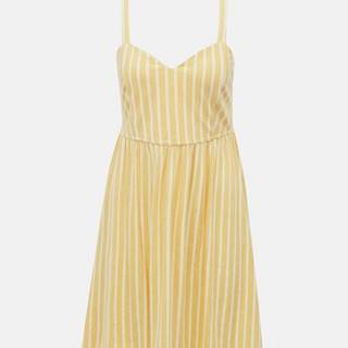 Žlté pruhované šaty ONLY Sharon
