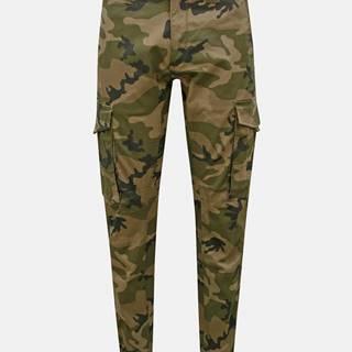 Kaki maskáčové nohavice s vreckami Jack & Jones Paul