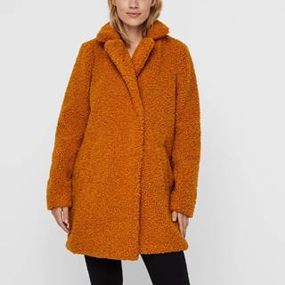 Oranžový zimný kabát Noisy May Gabi