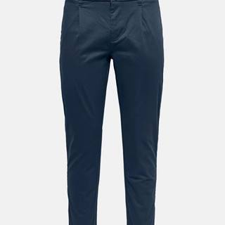 Tmavomodré chino nohavice ONLY & SONS