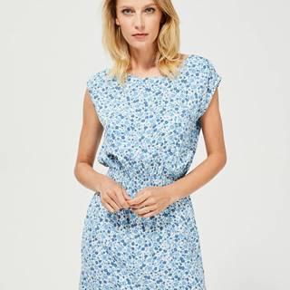 Modré kvetované šaty Moodo