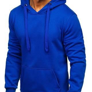 Modrá pánska mikina s kapucňou