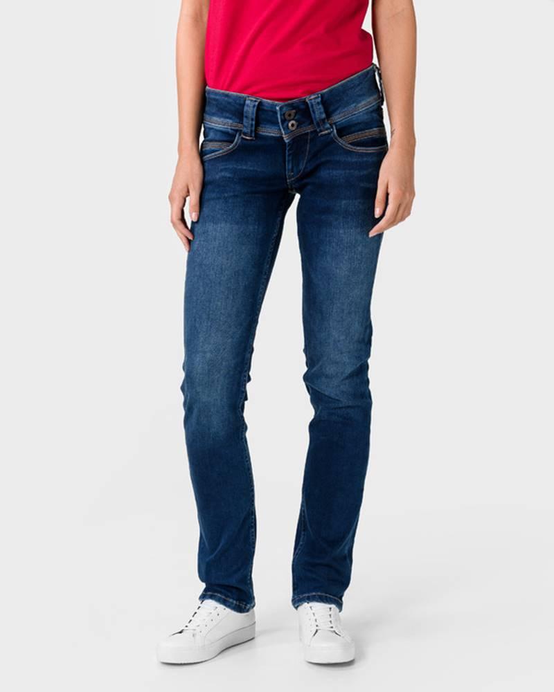 Pepe Jeans Venus Jeans Modrá