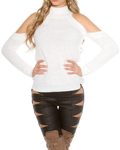 b8c22fd01968 Dámsky dlhý pletený sveter značky KOUCLA