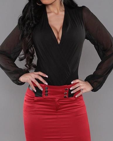 7e55d08c7b37 ZĽAVA 30% na Čierna koženková sukňa s čipkovaným detailom VERO MODA ...
