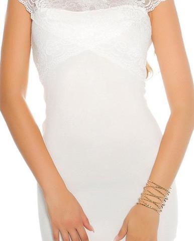 Dámske KouCla pletené mini šaty s čipkou 112f585e5bb