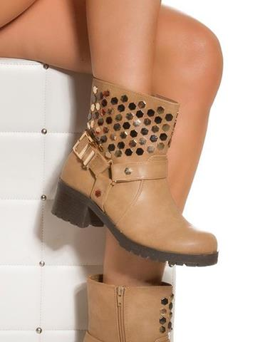 17678d44f859 Dámske topánky s retiazkou v zlatej farbe značky IN-STYLE