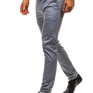 Šedé pánske spoločenské nohavice