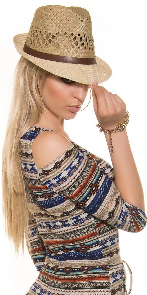 Štýlový dámsky slamený klobúk