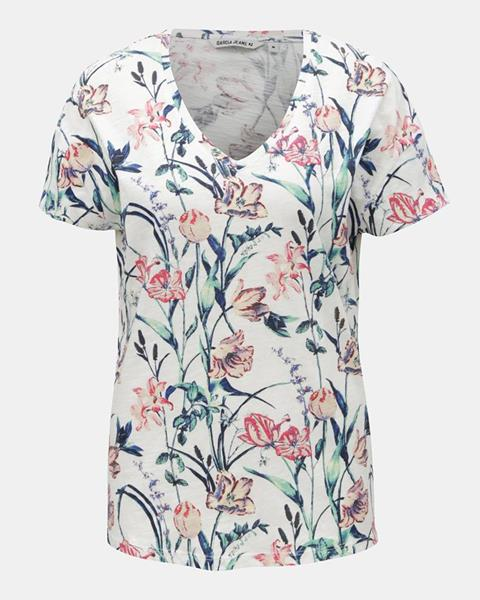 648ac1ec4 ... dlhým rukávom Garcia Jeans. Biele dámske kvetované tričko
