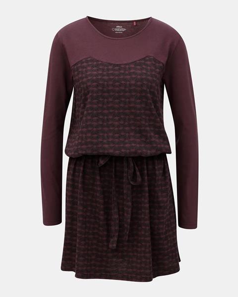 Vínové vzorované šaty na zaväzovanie  Terese