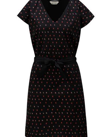 Čierne vzorované šaty SKFK Adana ef9ba44ce90