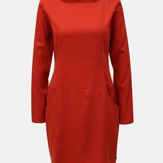Červené šaty s vreckami  Magde