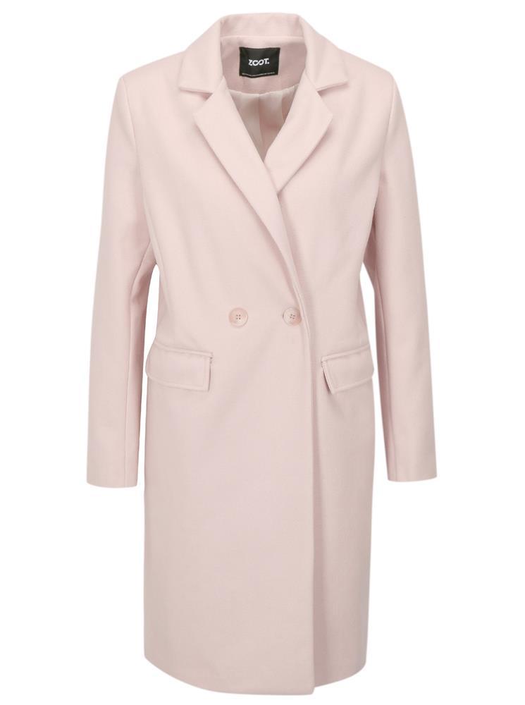 ZĽAVA 51% na Svetloružový kabát ZOOT 4671fe2c11d