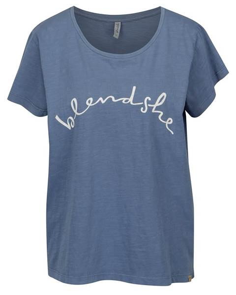 Modré tričko s potlačou Cute značky BLENDSHE ace78f8dd4d
