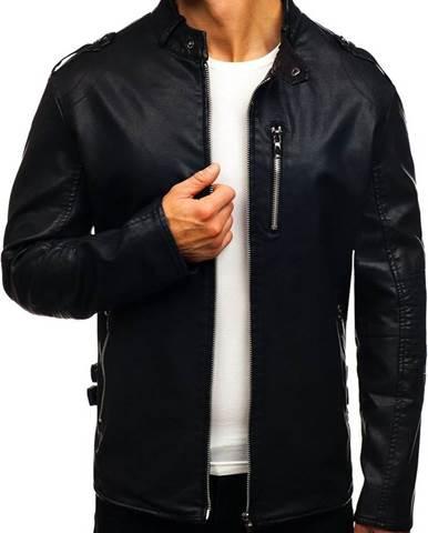 206d721aac0 Čierna pánska bunda z ekokože