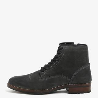 Tmavosivé pánske semišové členkové topánky