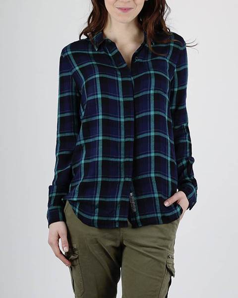 Košeľa Superdry SUPERSIZED CHECKED SHIRT Modrá