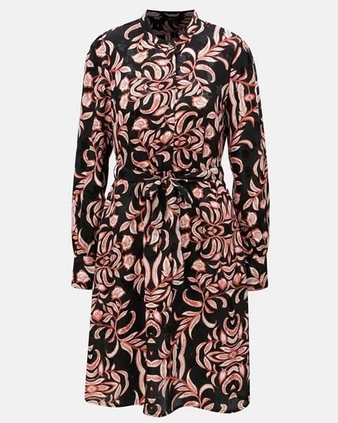 829d8f78f2 ZĽAVA 20% na Čierne kvetované šaty s odnímateľným opaskom Gyana ...