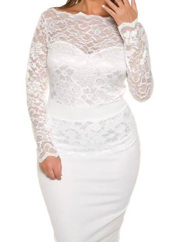 Dámske čipkované šaty pre moletky KouCla d3f06523346