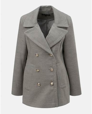 Sivý melírovaný krátky kabát Miss Selfridge a7d0908958c