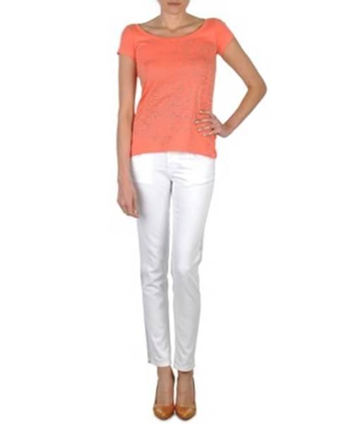 Džínsy Slim Calvin Klein Jeans  JEAN BLANC BORDURE ARGENTEE