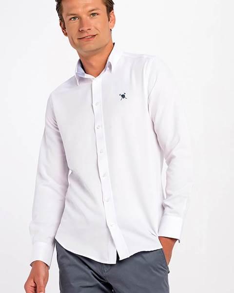 Pánska košeľa AC18F SHM3004 WHITE