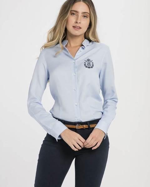 4c451a7ca771 Dámska košeľa 18S SHW4015 BABY BLUE značky JIMMY SANDERS