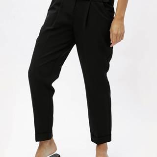 Čierne nohavice s vysokým pásom