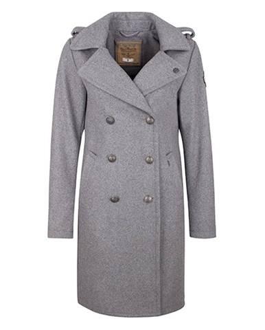 DreiMaster Dámsky kabát s prímesou vlny 39036839 grau melange d84e3869a0