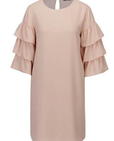 Staroružové šaty s volánmi na rukávoch ONLY Caroline bee8c0f265b