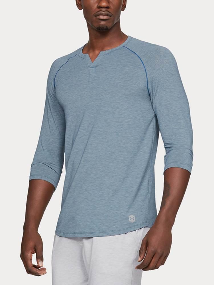 Tričko Under Armour Recovery Sleepwear Henley Modrá