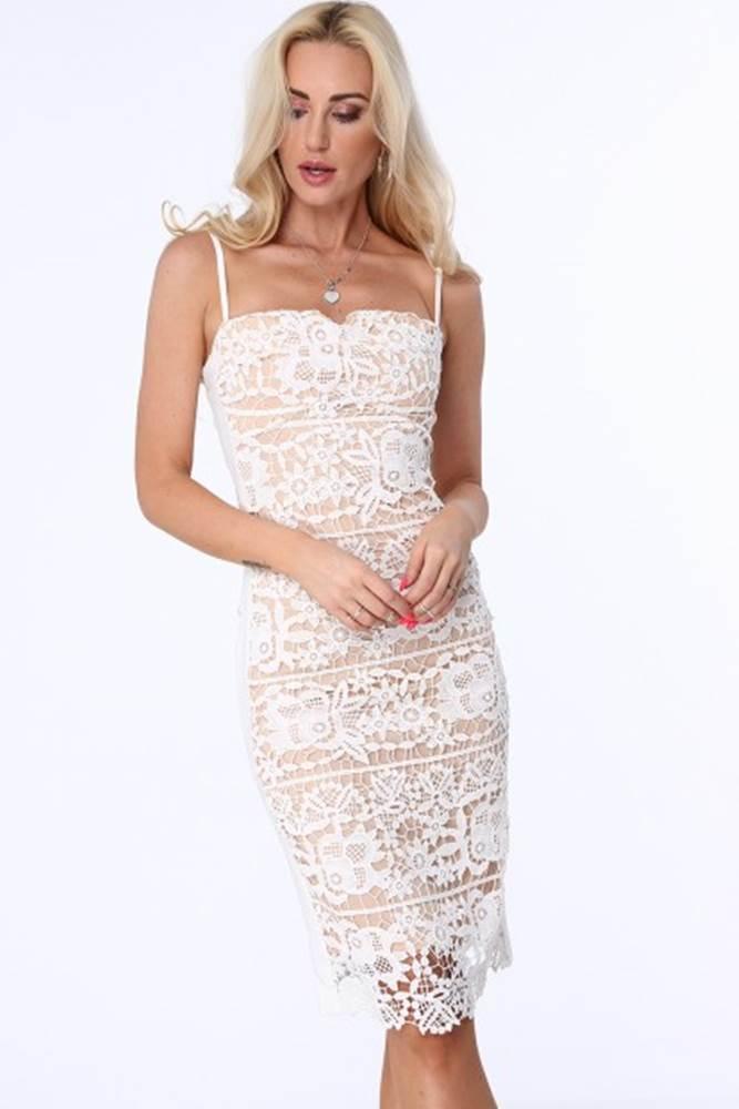 Béžové dámske čipkované šat...