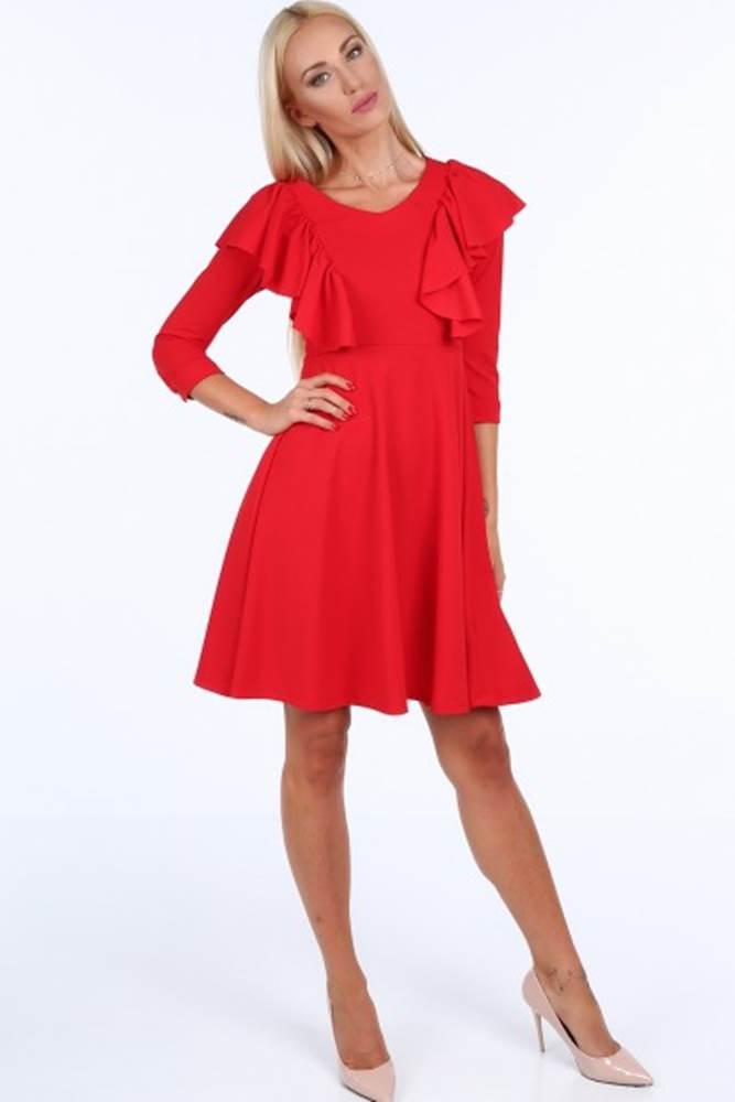 Červené krátke dámske šaty ...
