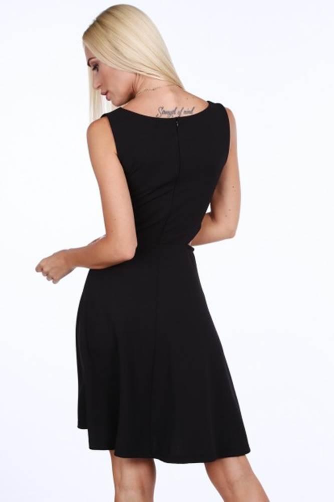 Čierne dámske šaty so šifónom