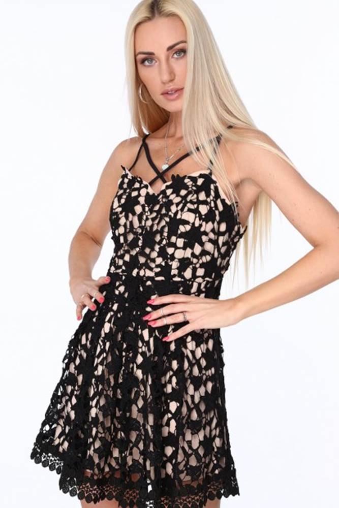 Dámske čipkované šaty, čierne