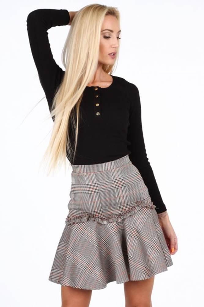 26340d648952 Oranžová dámska mini sukňa s volánom značky FASARDI