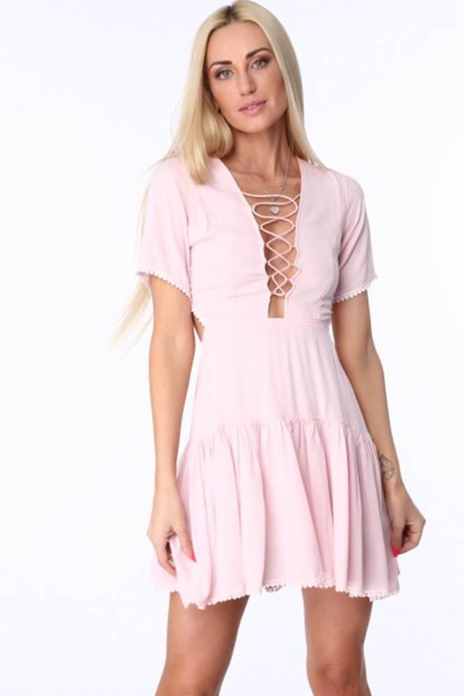 Ružové dámske šaty so šnuro...