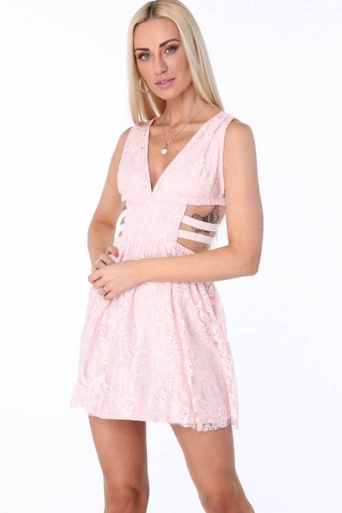 Svetloružové dámske šaty s ...
