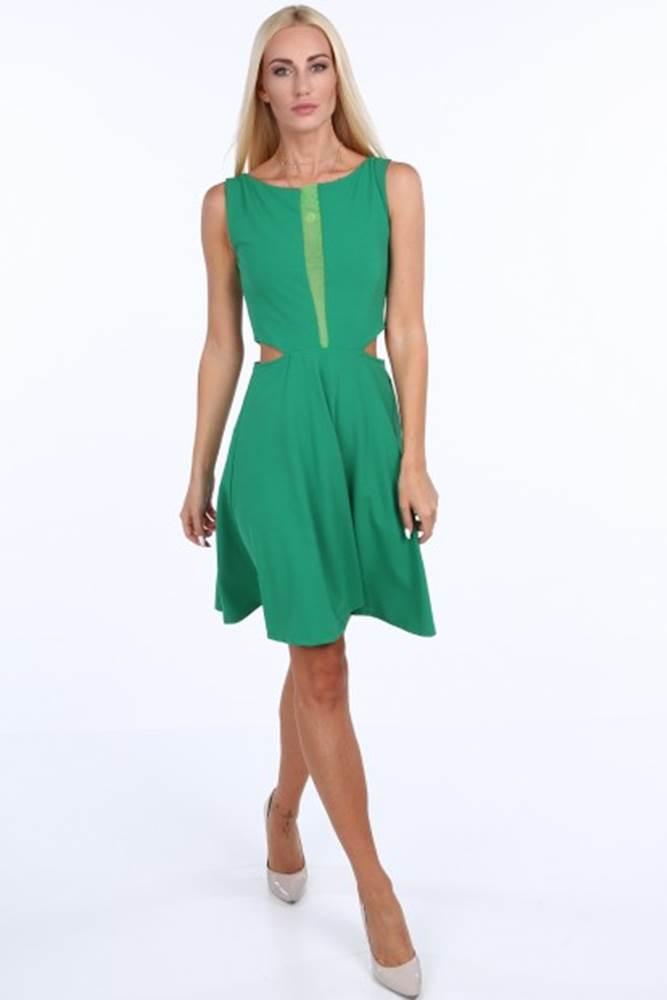 Zelené dámske šaty so šifónom