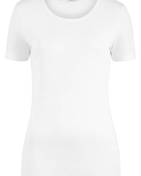 Vrúbkované tričko s krátkym rukávom