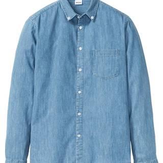 Dlhá džínsová košeľa Slim Fit