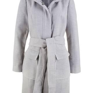 Teplý kabát z vlnenej imitácie
