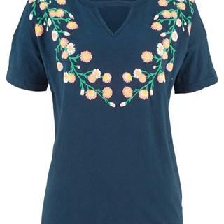 Tričko z vypaľovaného vlákna, krátky rukáv, s potlačou
