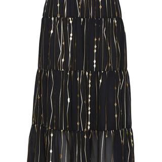 Volánová sukňa s fóliovou potlačou