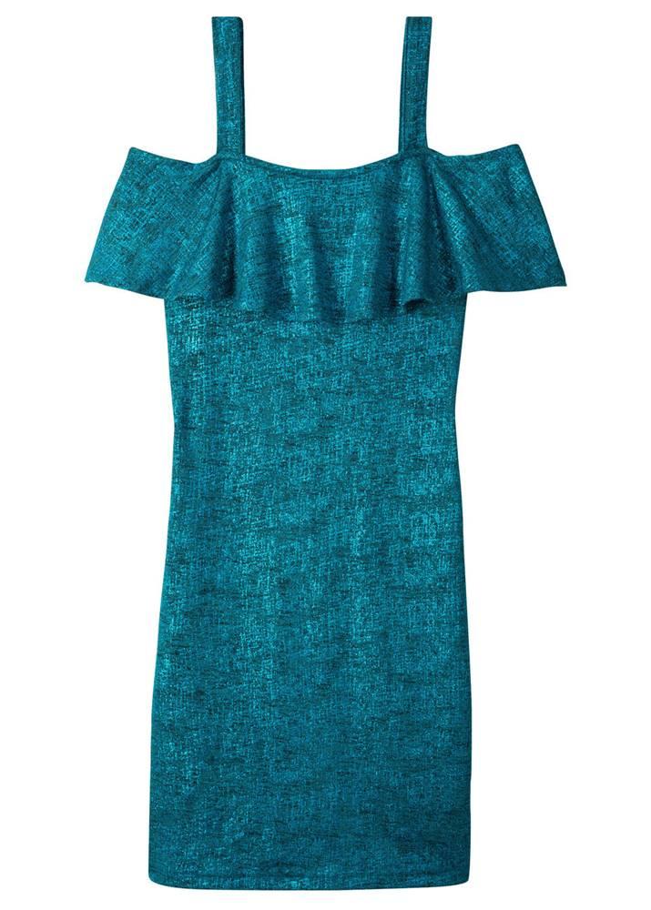 Lesklé šaty na jedno plece