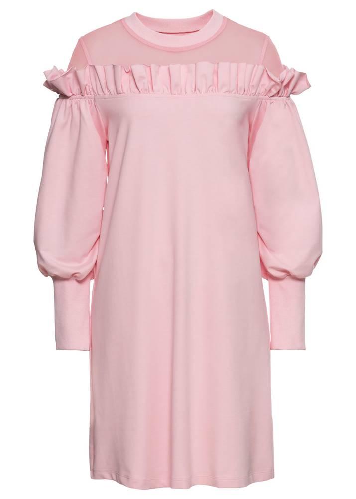 Mikinové šaty so sieťovinov...