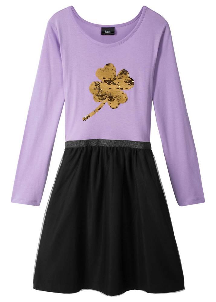 Šaty s obojstrannými flitrami