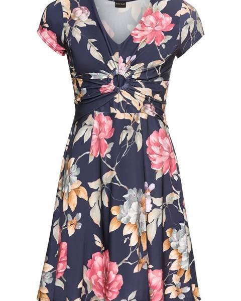 Džersejové šaty s kvetovanou potlačou